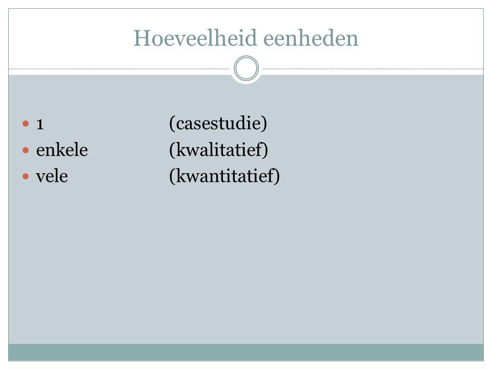 Hoeveelheid eenheden 1 (casestudie) enkele (kwalitatief)