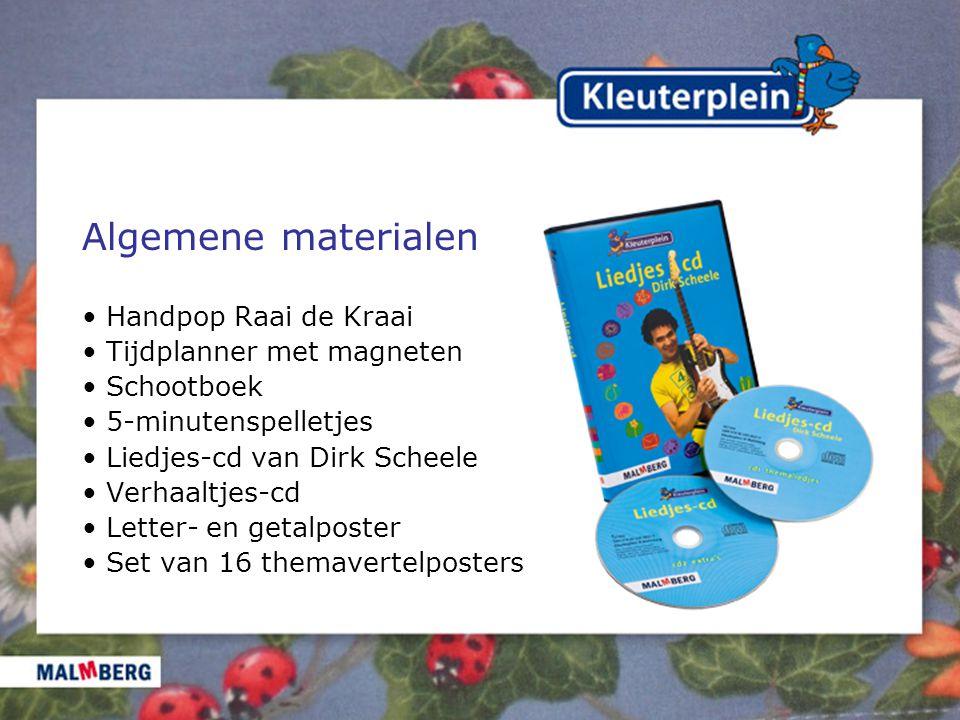 Algemene materialen • Handpop Raai de Kraai • Tijdplanner met magneten