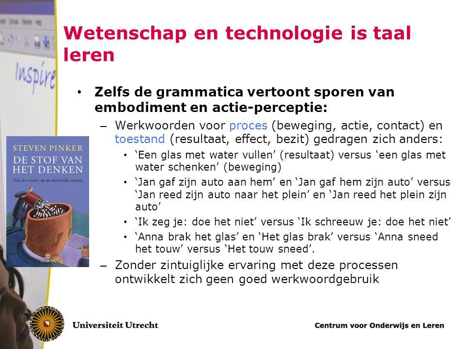 Wetenschap en technologie is taal leren