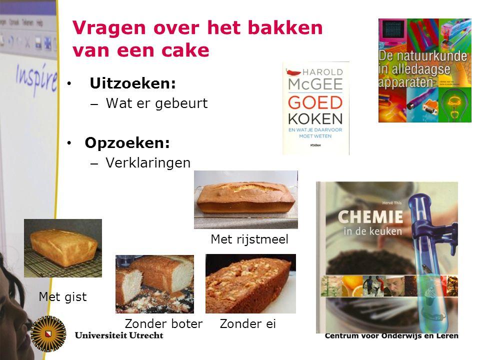 Vragen over het bakken van een cake