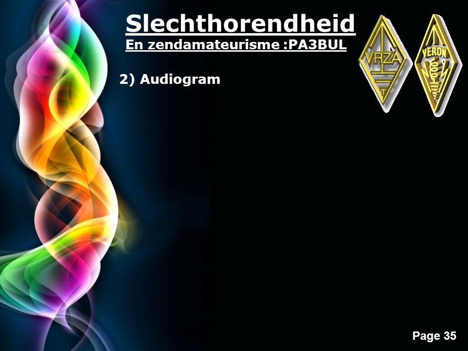 Slechthorendheid En zendamateurisme :PA3BUL 2) Audiogram