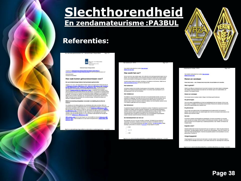 Slechthorendheid En zendamateurisme :PA3BUL Referenties: