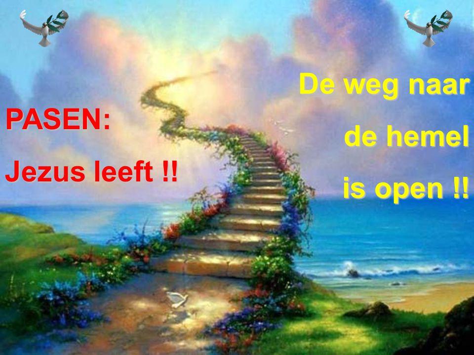 De weg naar de hemel is open !! PASEN: Jezus leeft !!