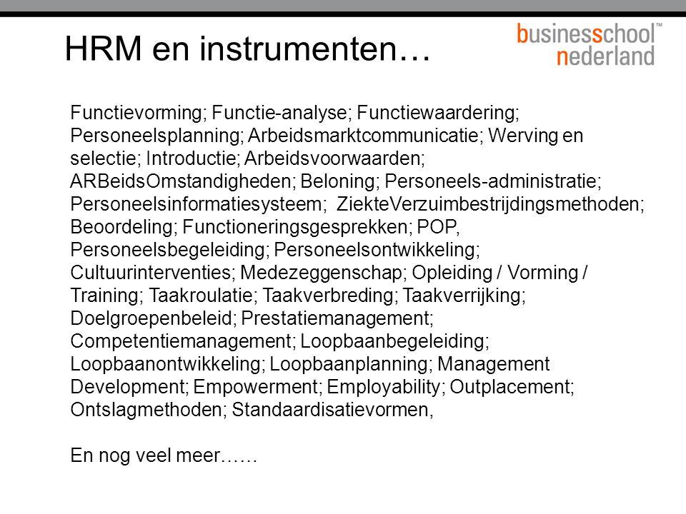 HRM en instrumenten…