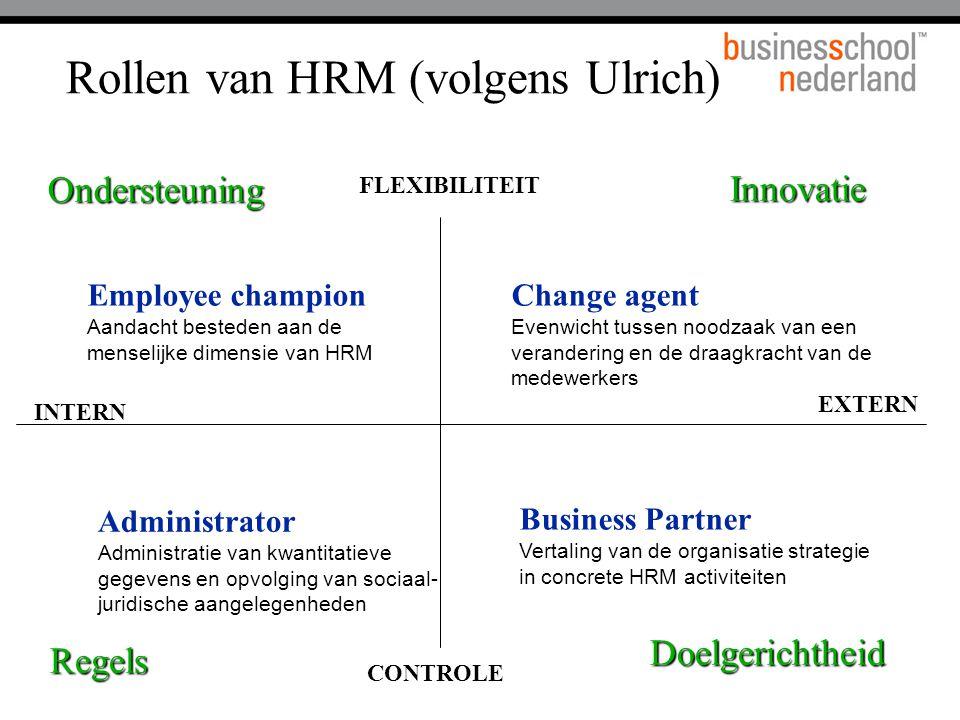 Rollen van HRM (volgens Ulrich)