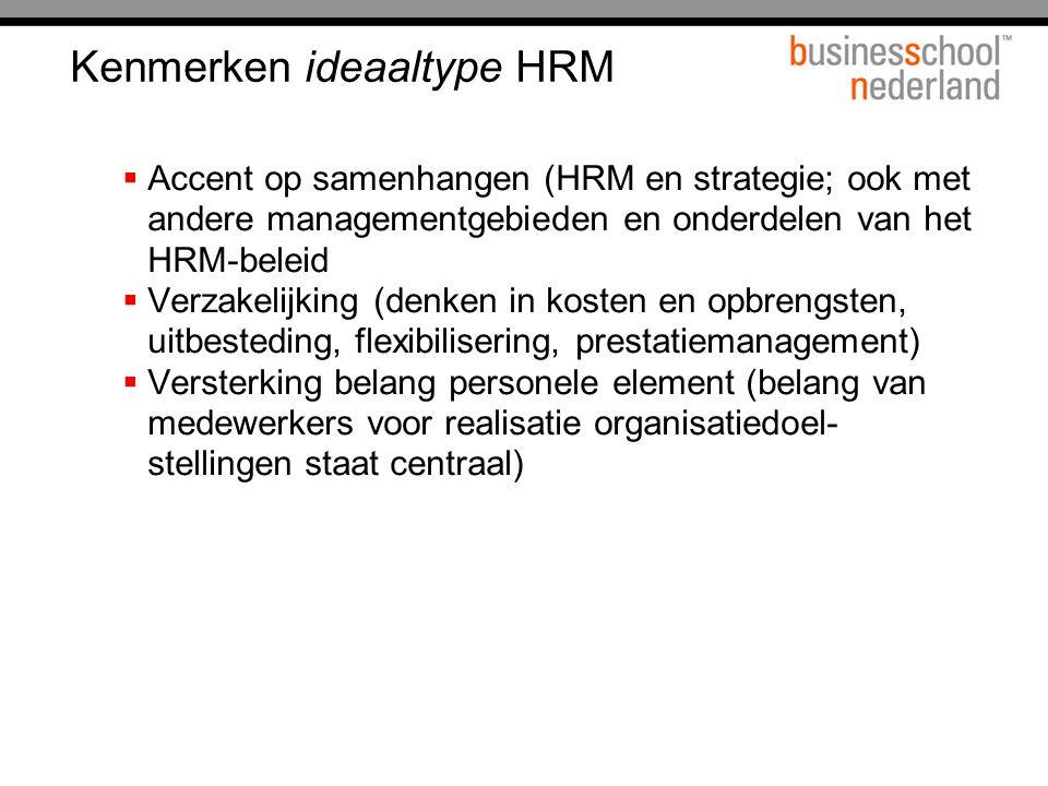 Kenmerken ideaaltype HRM