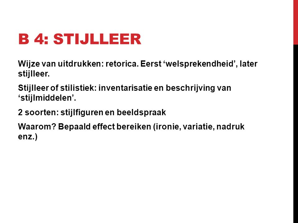 B 4: Stijlleer