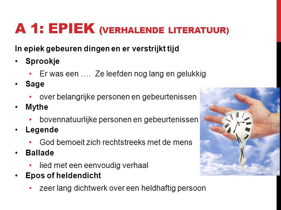 A 1: Epiek (Verhalende literatuur)