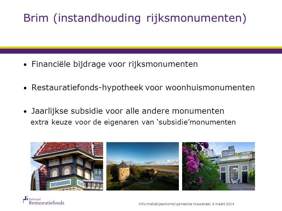 Brim Restauratiefonds-hypotheek