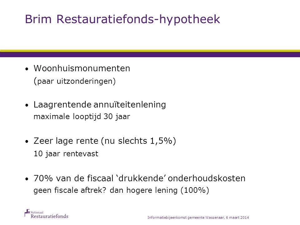 Rekenvoorbeeld Totale restauratiekosten EUR 60.000