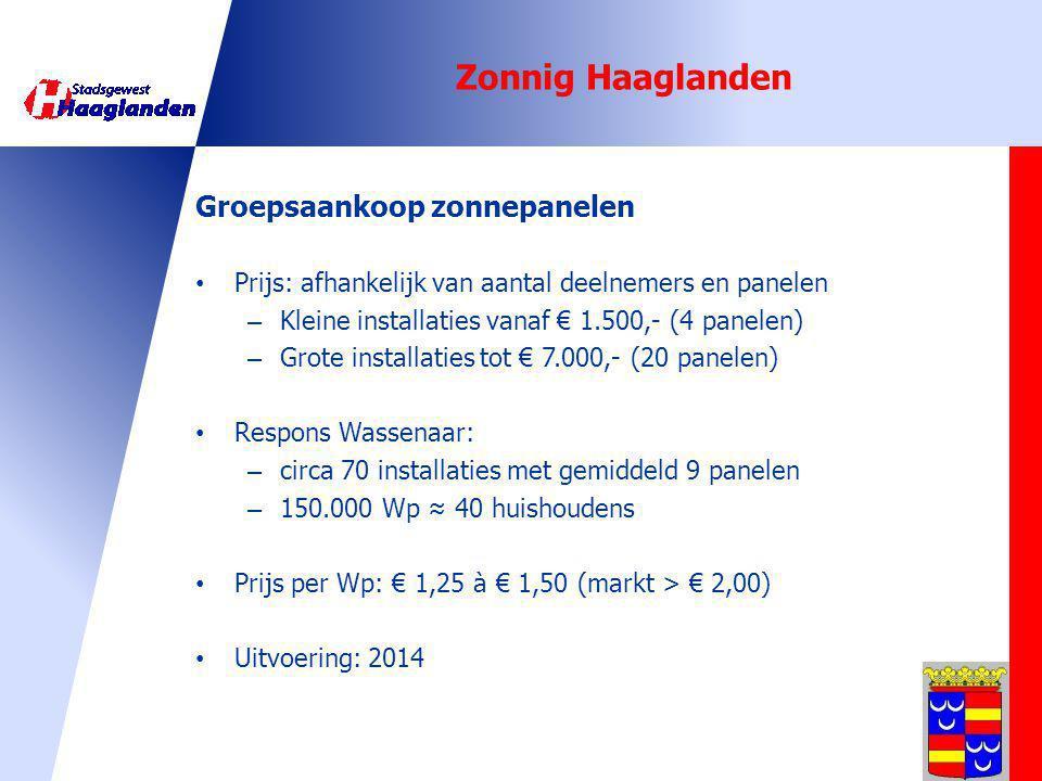 Zonnig Haaglanden Groepsaankoop zonnepanelen