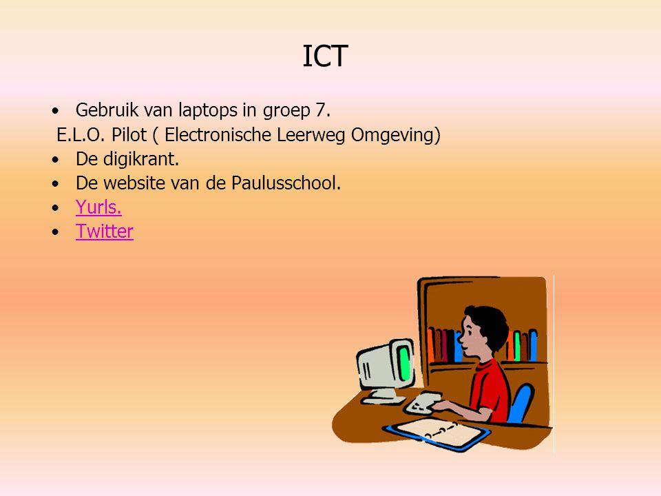ICT Gebruik van laptops in groep 7.