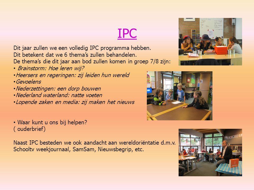 IPC Dit jaar zullen we een volledig IPC programma hebben.