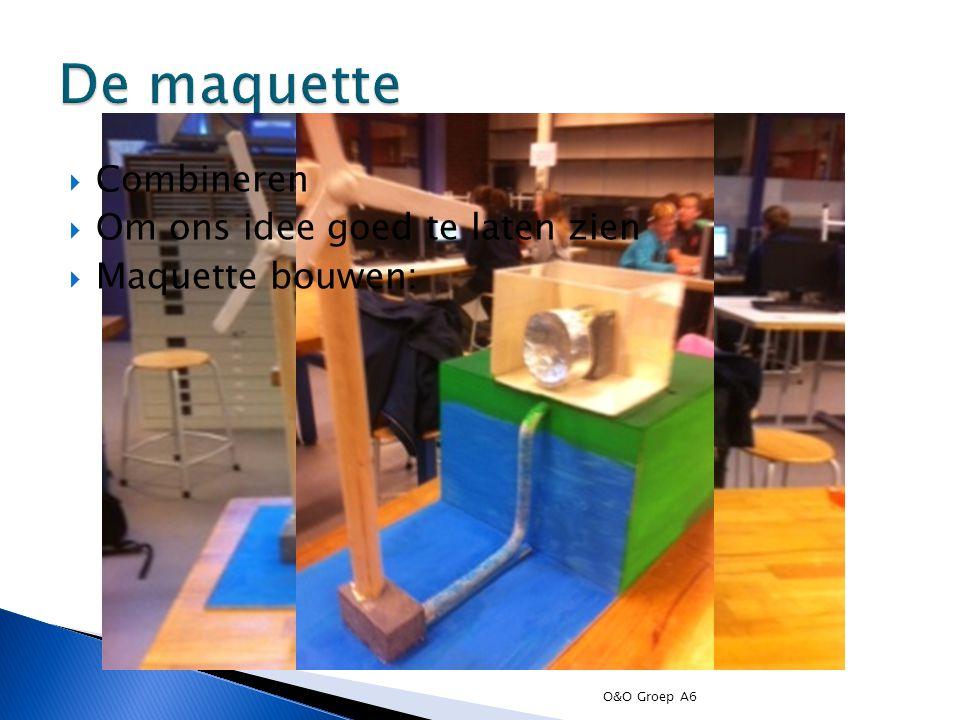 De maquette Combineren Om ons idee goed te laten zien Maquette bouwen: