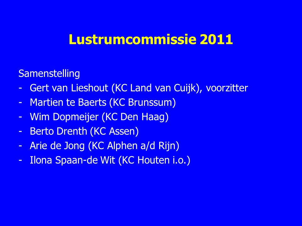 Lustrumcommissie 2011 Samenstelling