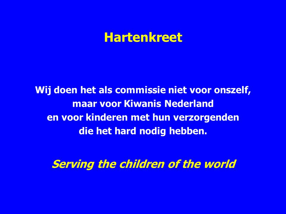 Hartenkreet Serving the children of the world