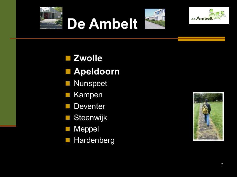 De Ambelt Zwolle Apeldoorn Nunspeet Kampen Deventer Steenwijk Meppel