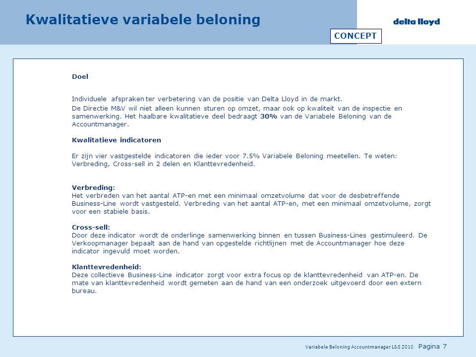 Kwalitatieve variabele beloning