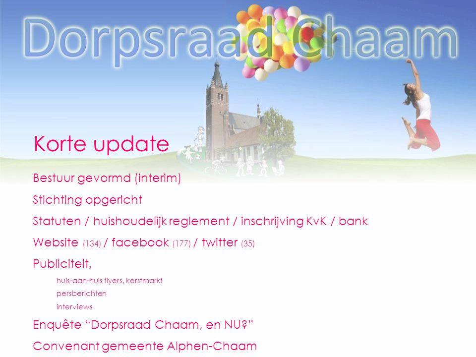 Korte update Bestuur gevormd (interim) Stichting opgericht