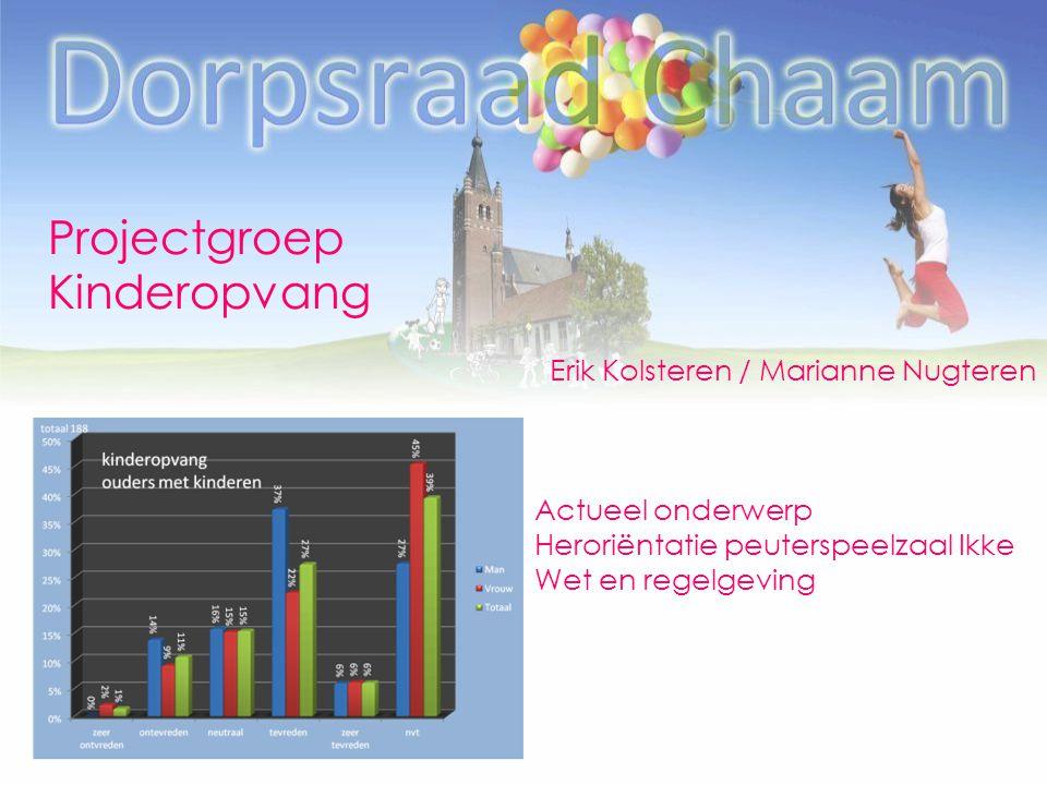 Projectgroep Kinderopvang Erik Kolsteren / Marianne Nugteren
