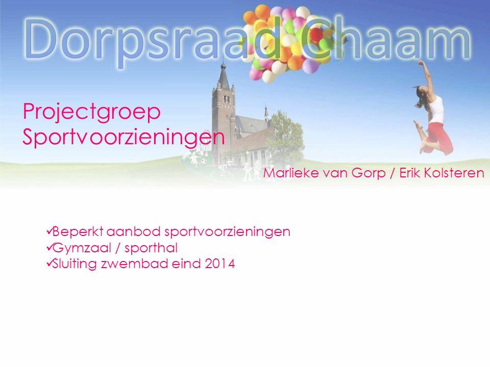 Projectgroep Sportvoorzieningen Marlieke van Gorp / Erik Kolsteren