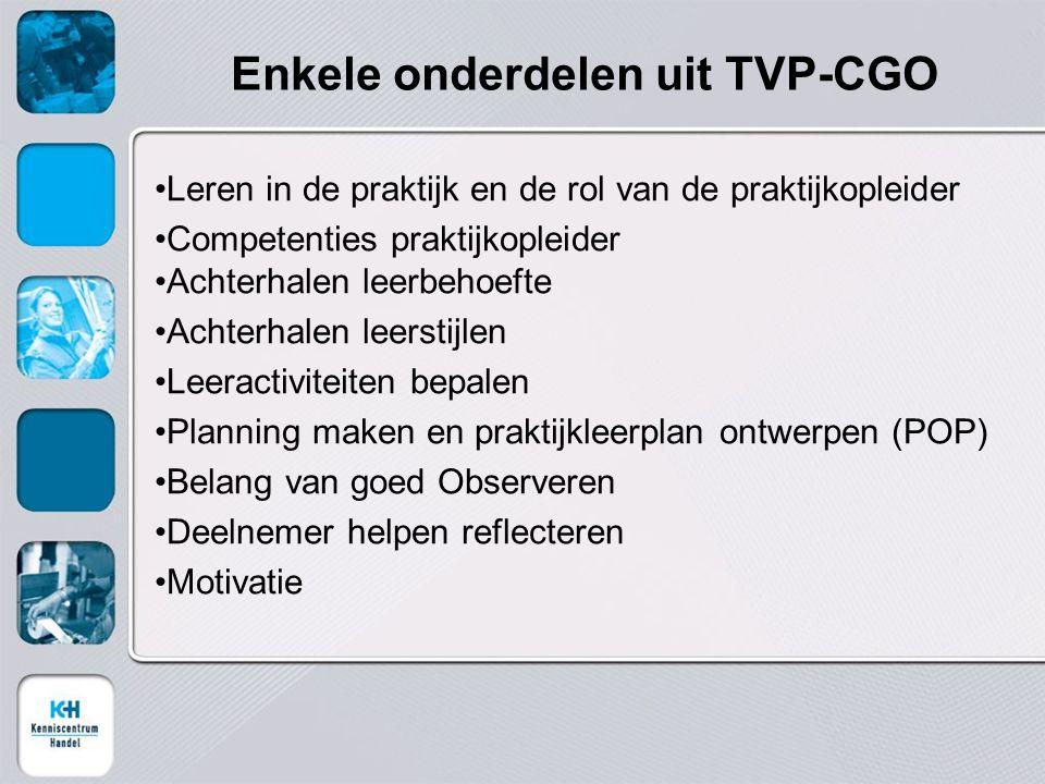 Enkele onderdelen uit TVP-CGO