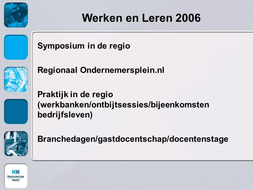 Werken en Leren 2006 Symposium in de regio