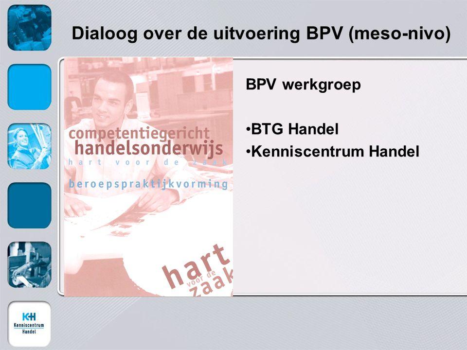Dialoog over de uitvoering BPV (meso-nivo)