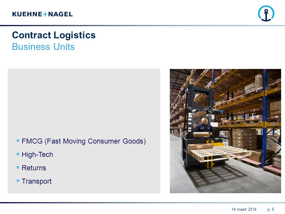 Contract Logistics Business Units