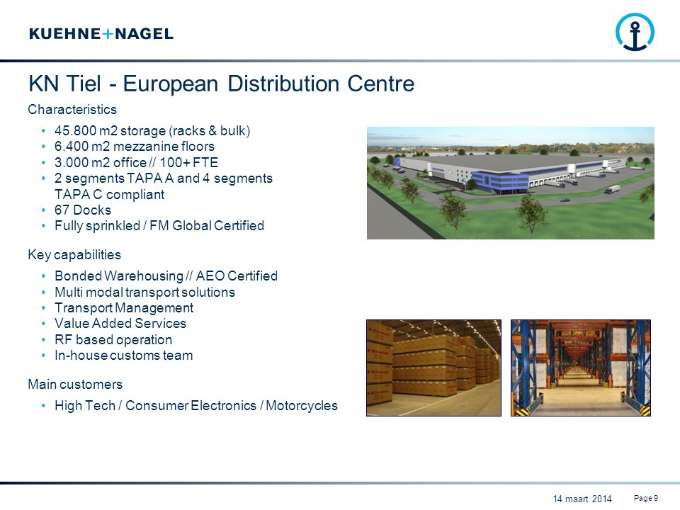 KN Tiel - European Distribution Centre