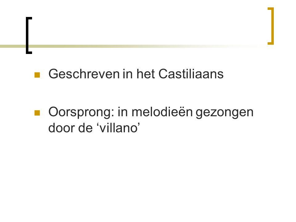 Geschreven in het Castiliaans