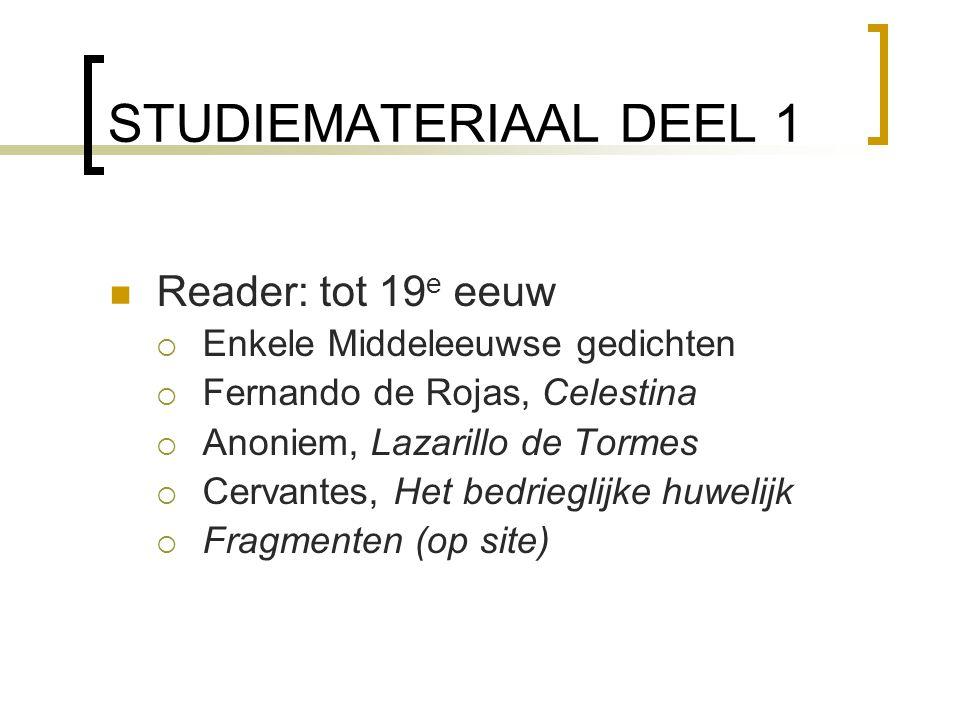 STUDIEMATERIAAL DEEL 1 Reader: tot 19e eeuw