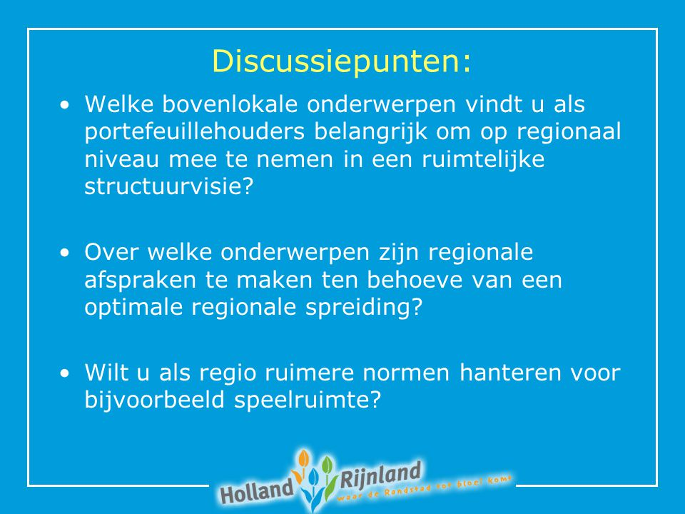Discussiepunten: