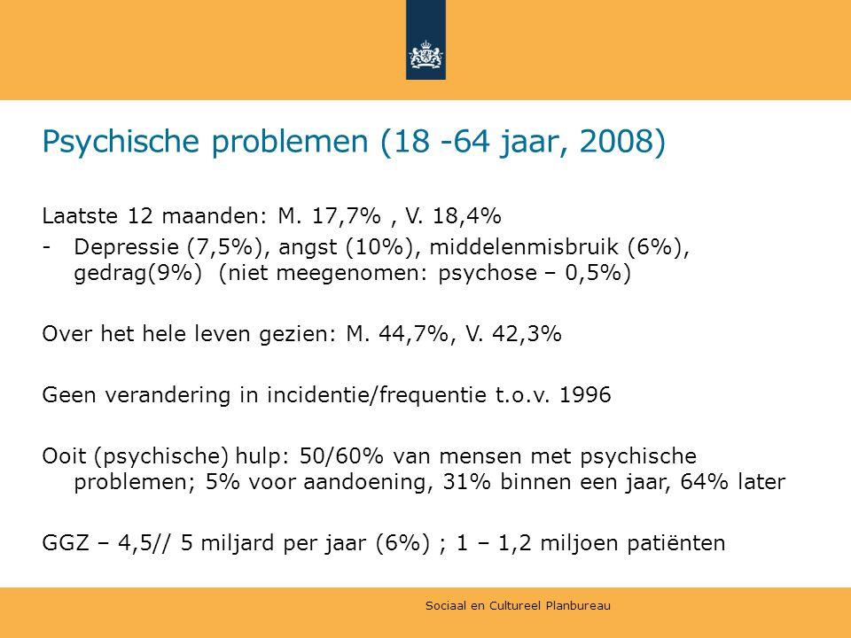 Psychische problemen (18 -64 jaar, 2008)