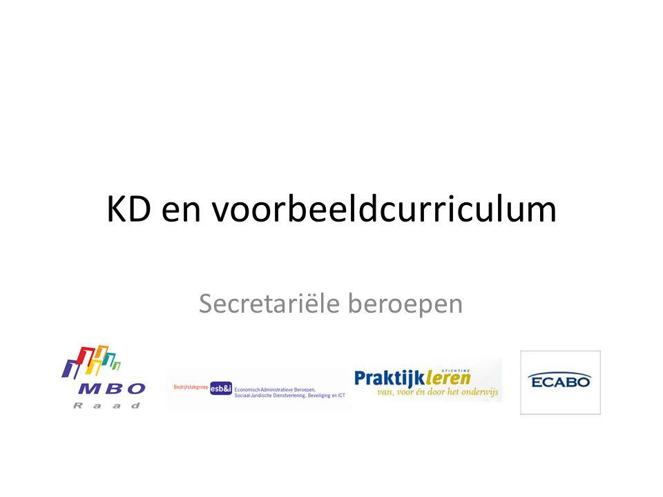 KD en voorbeeldcurriculum