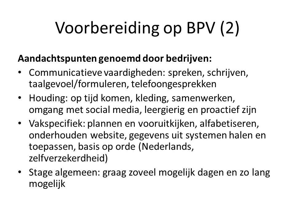 Voorbereiding op BPV (2)