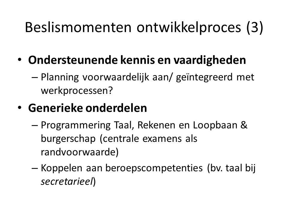 Beslismomenten ontwikkelproces (3)