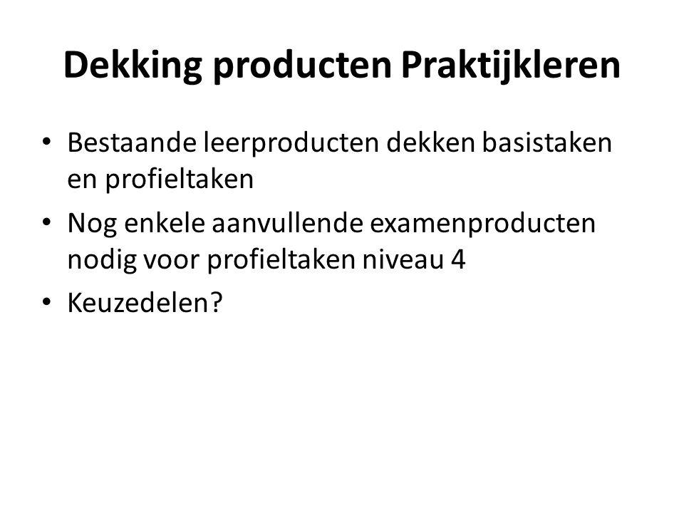Dekking producten Praktijkleren