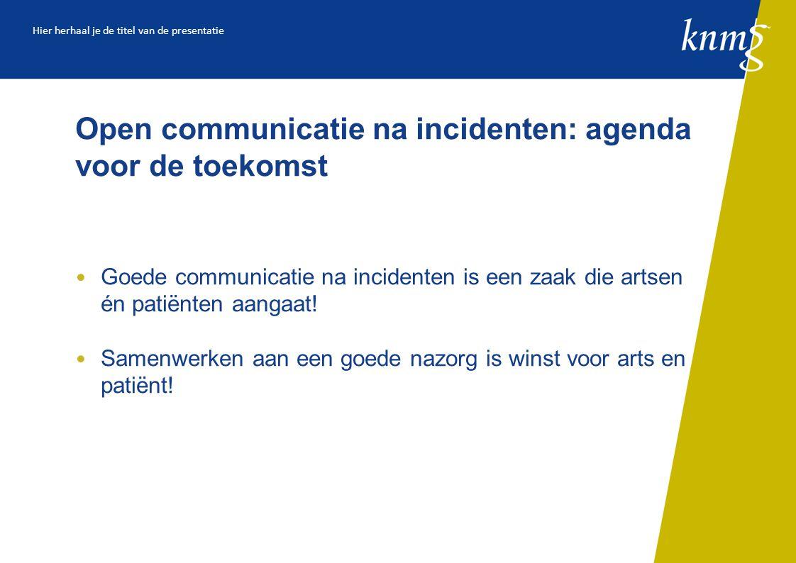 Open communicatie na incidenten: agenda voor de toekomst