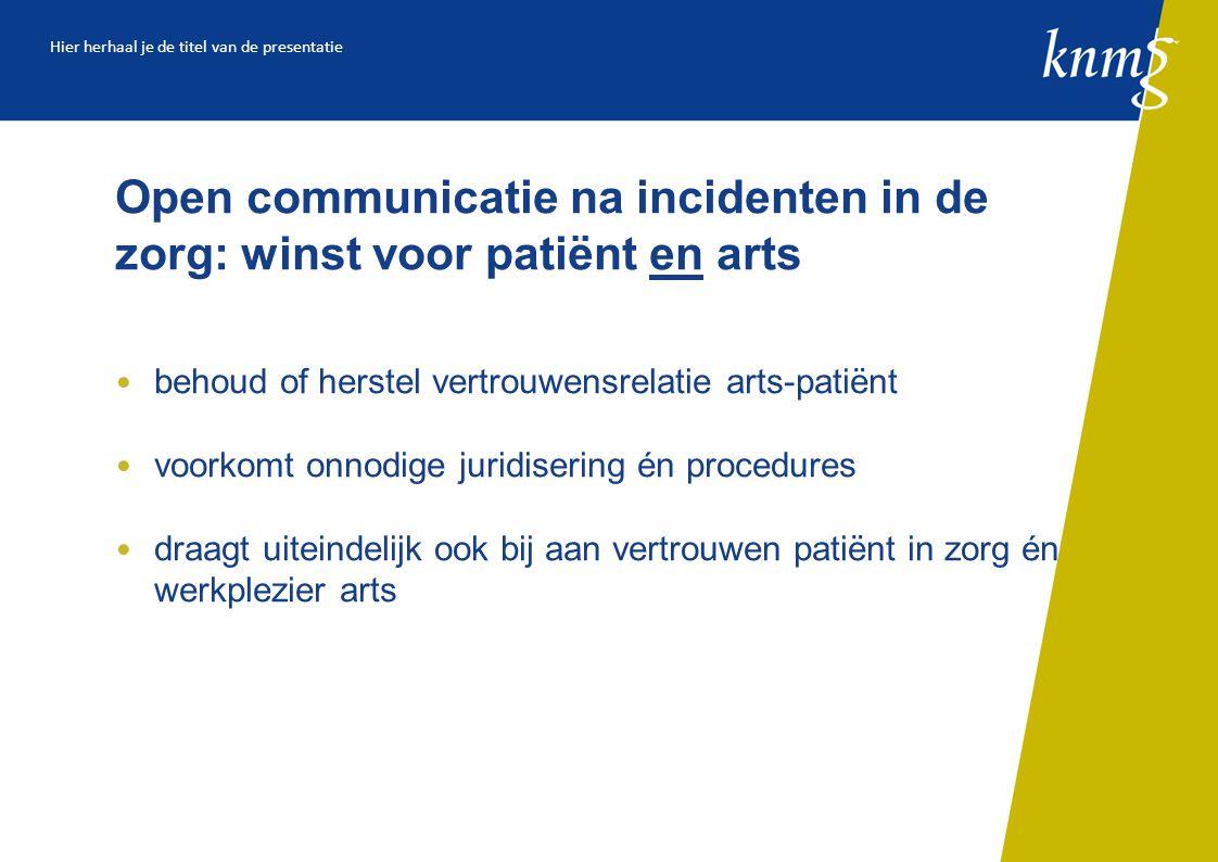 Open communicatie na incidenten in de zorg: winst voor patiënt en arts