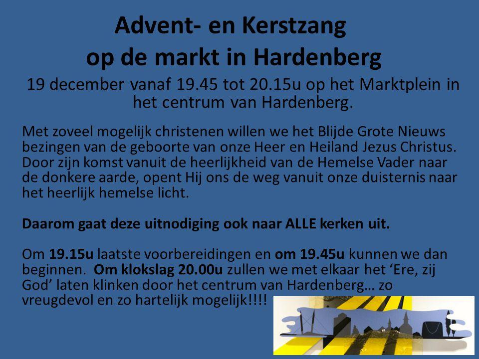 Advent- en Kerstzang op de markt in Hardenberg