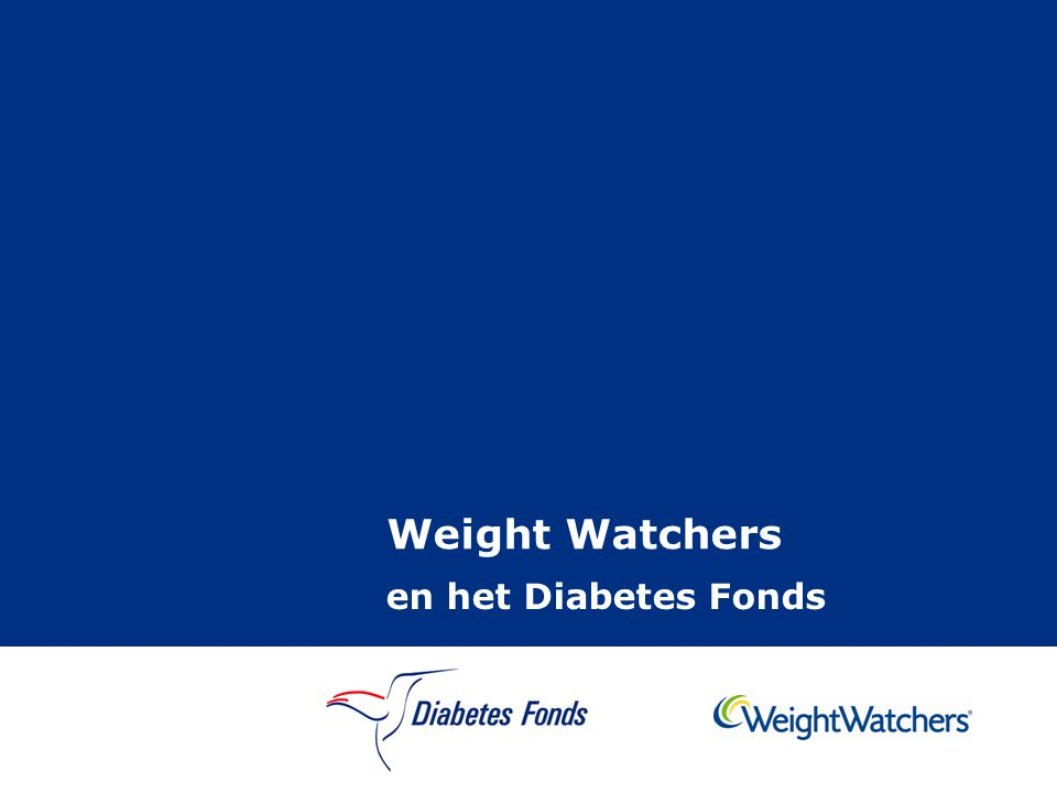 Weight Watchers en het Diabetes Fonds