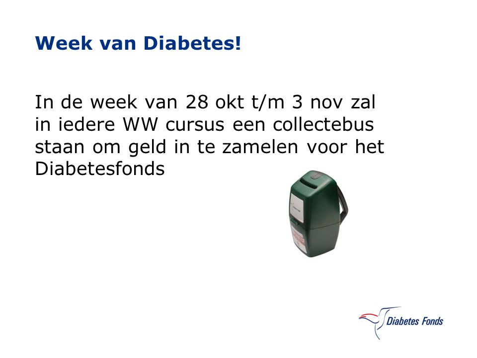 Week van Diabetes.