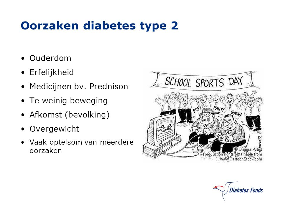 Oorzaken diabetes type 2