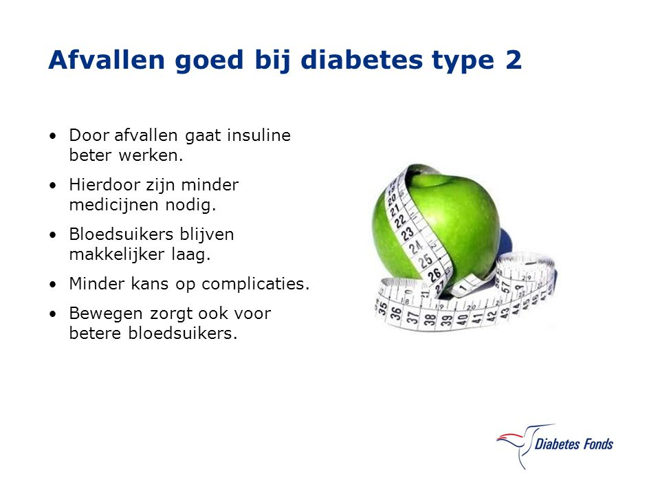 afvallen door diabetes type 2