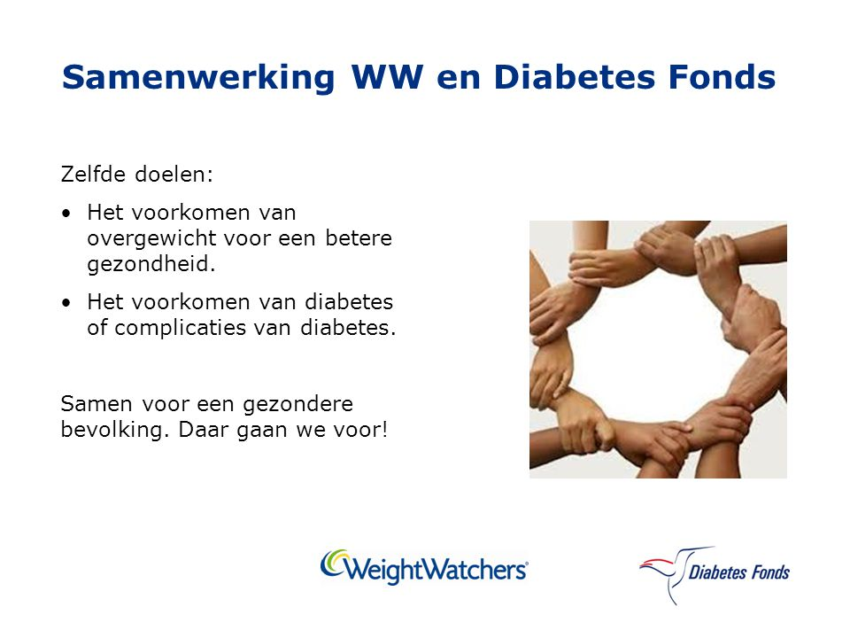 Samenwerking WW en Diabetes Fonds