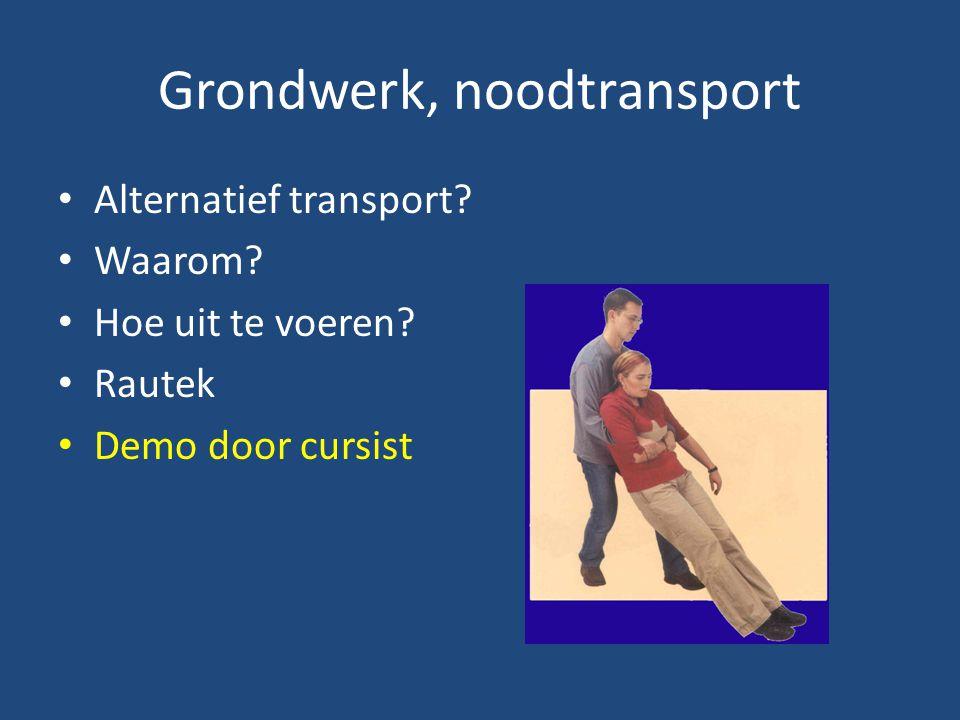 Grondwerk, noodtransport