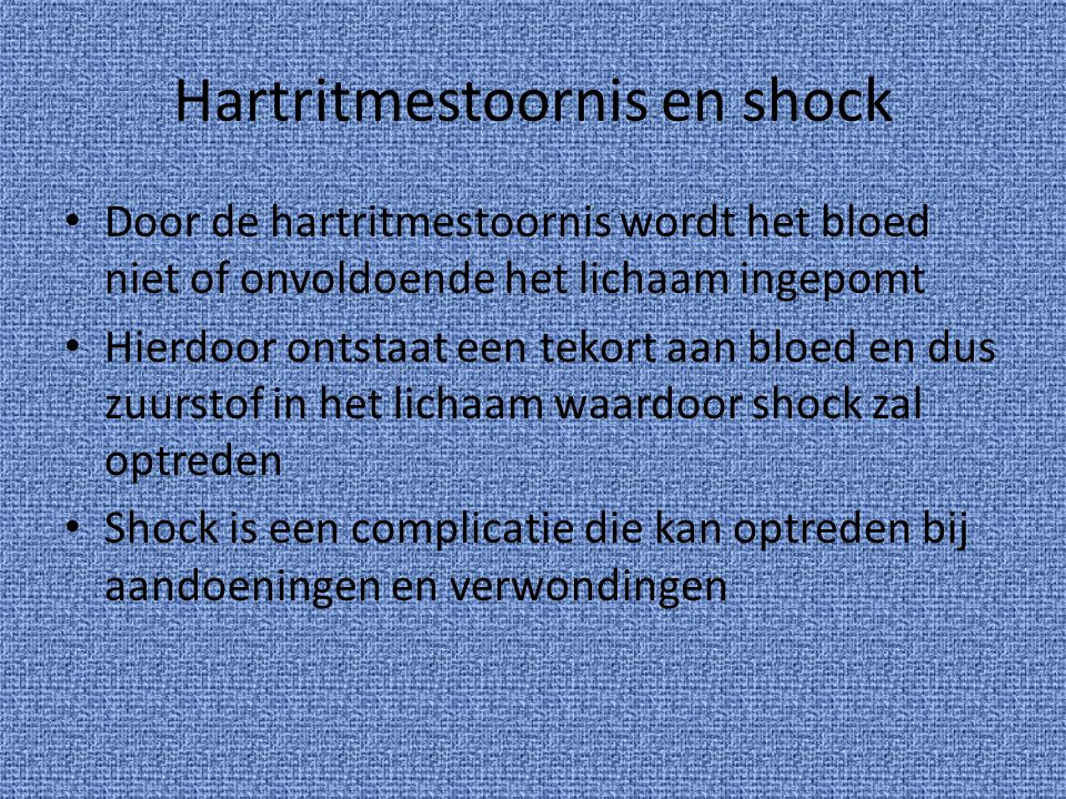Hartritmestoornis en shock