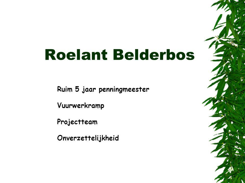 Roelant Belderbos Ruim 5 jaar penningmeester Vuurwerkramp Projectteam