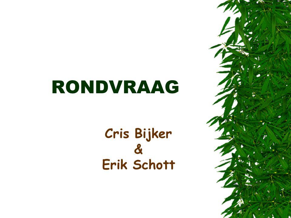 RONDVRAAG Cris Bijker & Erik Schott